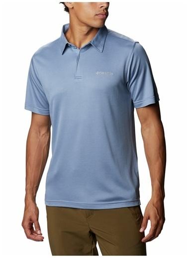Columbia Columbia Erkek Düz Mavi Polo T-Shirt Mavi